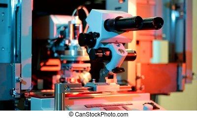 fil, bonder, universel, travail, équipement, microélectronique