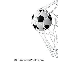 filet, football, isolé, balle