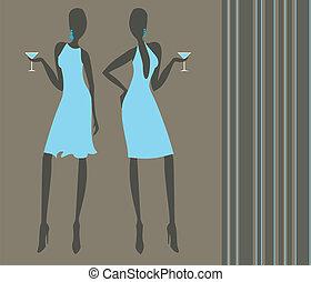 filles, cocktail