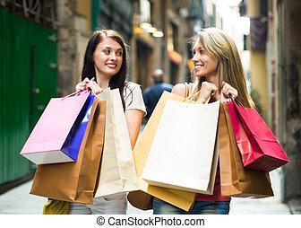 filles, sacs provisions