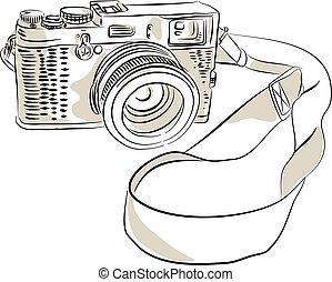 film 35mm, dessin, appareil photo, slr