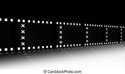film, annoncer, animation, bande, pellicule