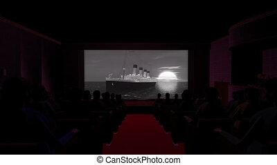 film, bateau, théâtre