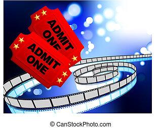 film, billets, pellicule, fond, bobine, internet