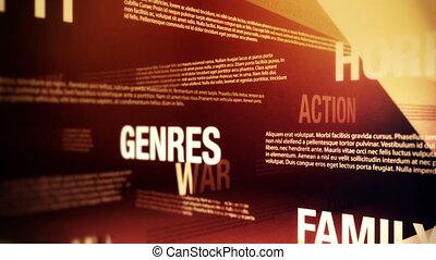 film, genres, apparenté, mots, boucle