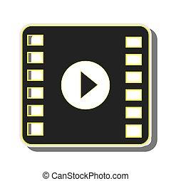 film, joueur, média, vidéo