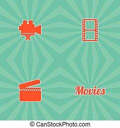 film, thème, icône