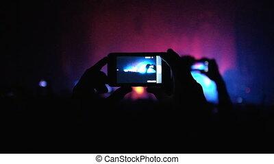 filmer, foule, concert