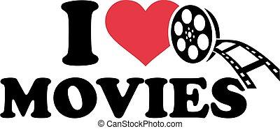 films, amour, rouleau, pellicule