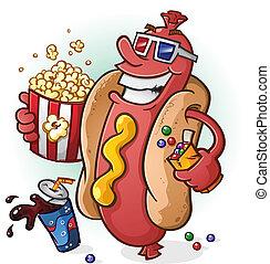 films, hot-dog, dessin animé