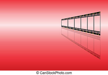 filmstrip, arrière-plan rouge