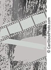 filmstrips, fond, grunge