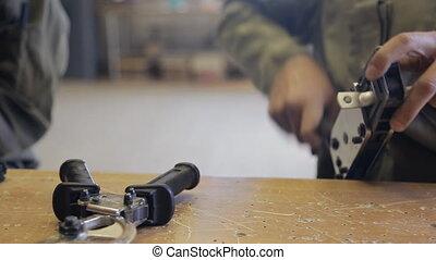 fils, installation, fonctionnement, deux, équipement, électricien