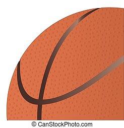 fin, basket-ball, haut