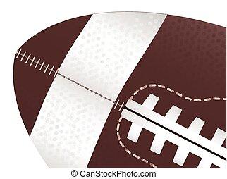fin, football américain, haut, balle