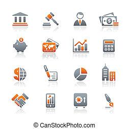 finance, business, &, icônes, /, graphite