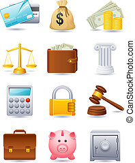 finance, icône