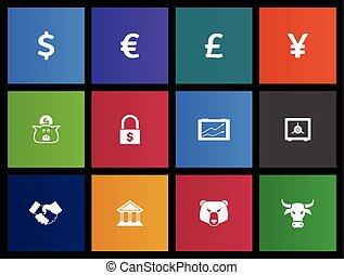 finance, icônes