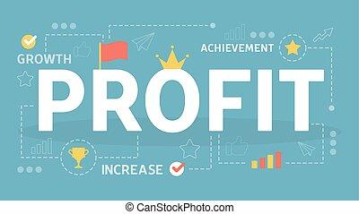 finance, profit, concept., idée, croissance personnelle