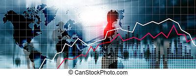 financier, économique, concept., crysis, récession