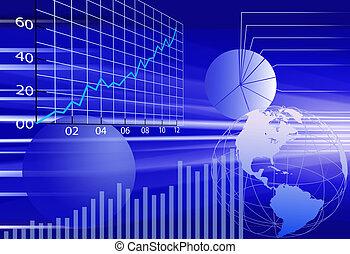financier, business, résumé, fond, mondiale, données