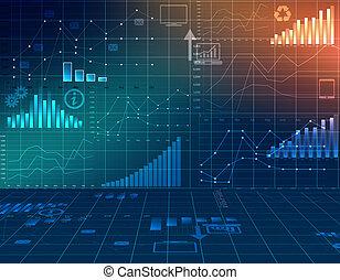financier, business, résumé, infographie, statistics.