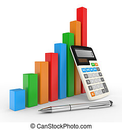 financier, business, reussite, projection, diagramme, marché, stockage