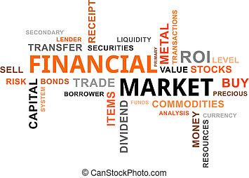 financier, nuage, -, marché, mot