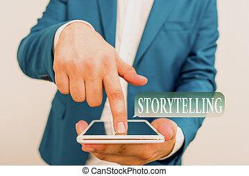 finger., activité, texte, pointage, homme affaires, suite, storytelling., bleu, conceptuel, gestes, social, sommet, signe, théâtral, photo, recouvrement, culturel, projection