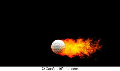 fireball, golf, flammes
