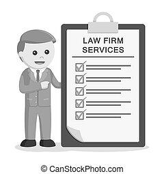 firme, mâle, presse-papiers, avocat, services, droit & loi