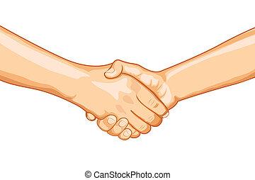 firme, poignée main