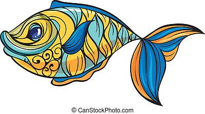 fish, coloré