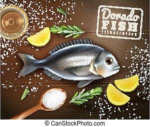 fish, cuisine, illustration