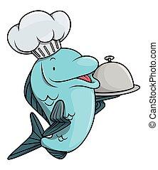 fish, dessin animé, illustration