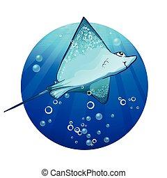 fish, rampe, dessin, dessin animé