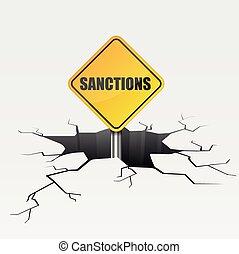 fissure, profond, sanctions