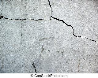 fissures, ciment