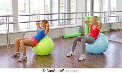 fitball, séance entraînement