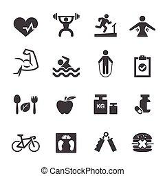 fitness, icône