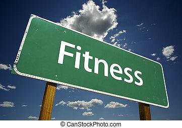 fitness, panneaux signalisations