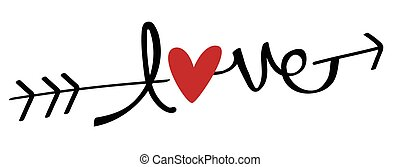 flèche, aimez coeur