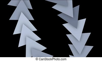 flèche, en mouvement, cartes, triangle