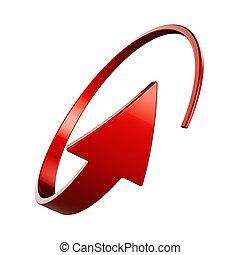 flèche rouge, rond