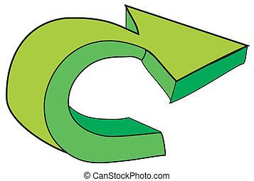 flèche, symbole