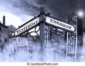 flèches, demain, hier