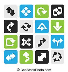 flèches, icônes