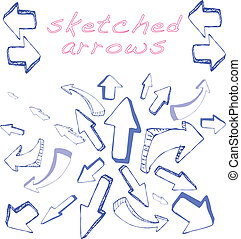 flèches, sketched