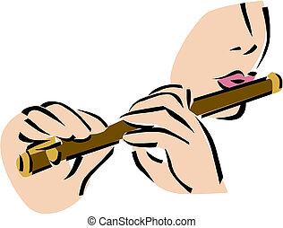 flûte, illustration