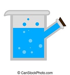flacon, laboratoire science, isolé, liquide
